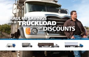 Big Rig Insurance Programs offers truckloads of discounts in AL,AR,FL,GA,IA,IN,KS,MS,NC,NE,NJ,OH,PA,SC & VA call us now at (888) 287-3449. From 1 unit to 40.